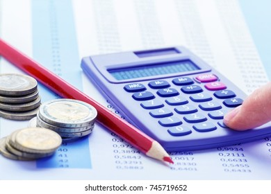Calculate costs, calculator and red pencil