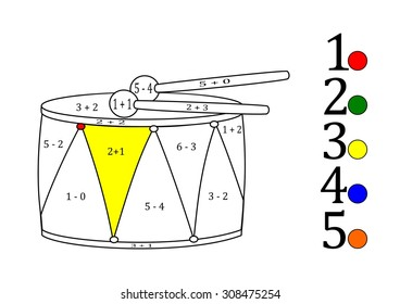 Calculate the examples and fill colors depending on the result