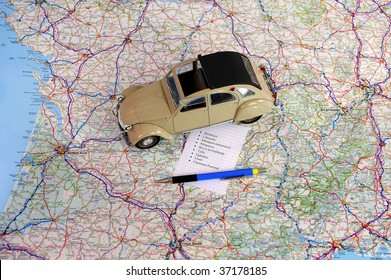 calculate a road route