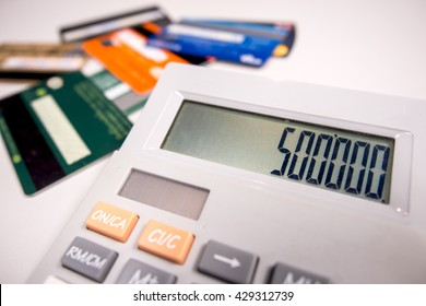 calculating the credit card.