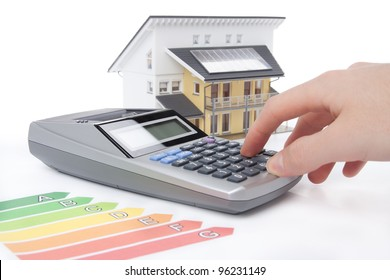 Calculation for energy positive (active) house concept.