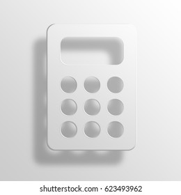 Calculator 3D Paper Icon Symbol Business Concept