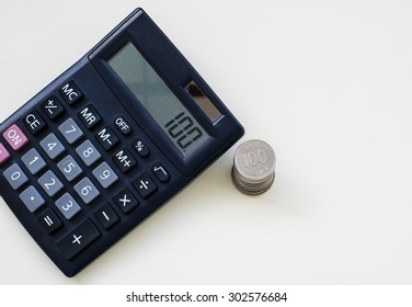 Calculator in business concept