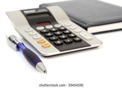 The calculator and the handle