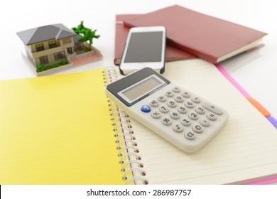 Calculator and house model