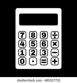 The calculator icon. Calculator symbol. Flat  illustration