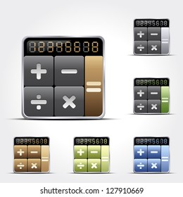 Calculator icons. Vector version also available in gallery.