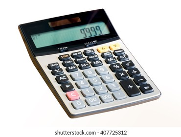 The calculator isolated on white background with clipping path