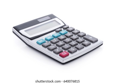 Calculator isolated on white background