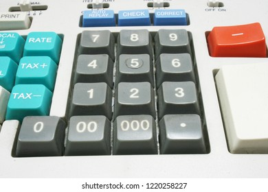 Calculator machine for income tax return, analyzing tool
