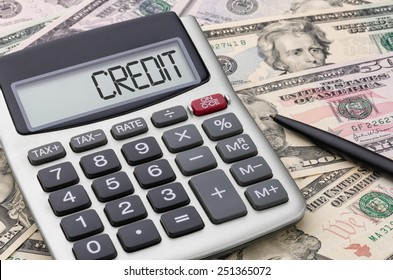 Calculator with money - Credit