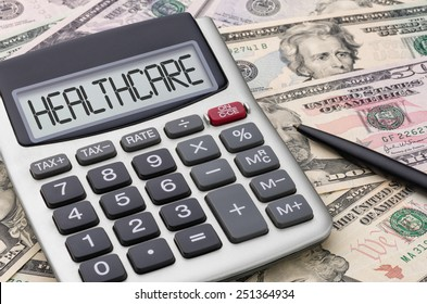 Calculator with money - Healthcare