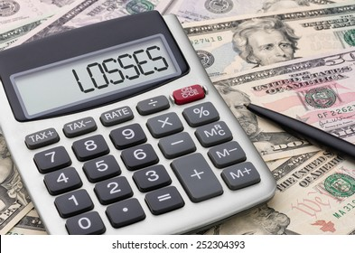 Calculator with money - Losses
