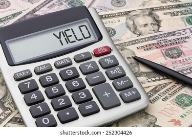 Calculator with money - Yield