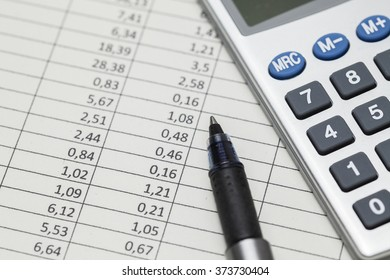 Calculator and numbers table