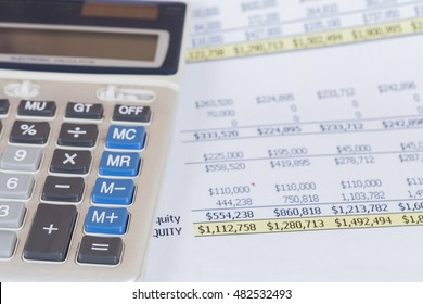 calculator on Analysis Business Accounting