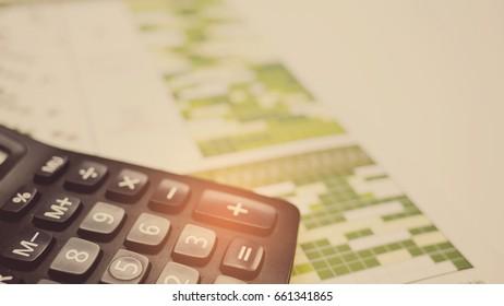 calculator on desk office