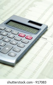 Calculator On Financial Paper