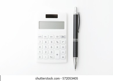 the calculator on white background