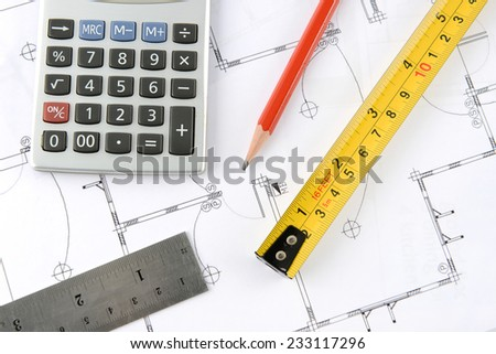 Groovy Calculator Pencil Measuring Tape Ruler On Stockfoto Jetzt Wiring Digital Resources Dimetprontobusorg