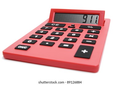 """Calculator reading """"911"""" for financial emergency"""