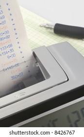 Calculator and Tape