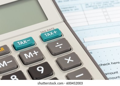 Calculator with tax botton