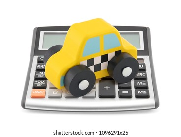 Calculator and taxi toy car