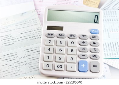 The calculator is used to calculate the numbers.