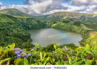Caldeira Funda on the island of Flores in the Azores, Portugal