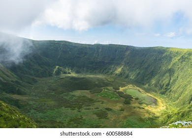 Caldeira at the top of Faial Island, Azores, Portugal