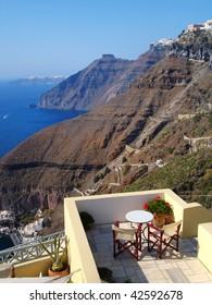 Caldera cliff at Santorini island