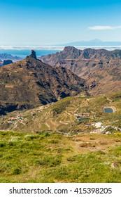 Caldera De Tejeda From Cruz de Tejeda Viewpoint - Tejeda, Gran Canaria, Canary Islands, Spain