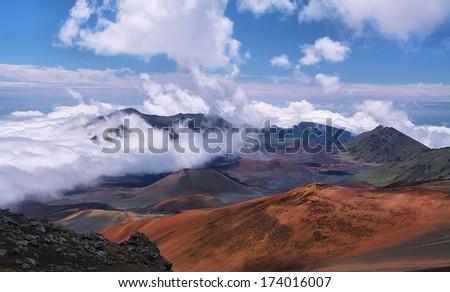 Caldera Haleakala Volcano Maui Island Hawai Stock Photo