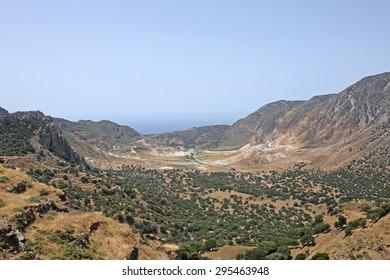 the caldera of Nisyros, Greece