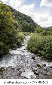 Caldera river through rocks in a rainforest, Boquete ,Chiriqui highlands, Panama, Central America