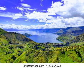 Caldera Toba Geopark North Sumatera Indonesia