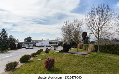 Caldes de Malavella, Spain; 03 02 2019:  Spring in PGA Catalunya,  a design-led golf villa complex with a course that has been voted the best in Spain for 2014. It's ten minutes from Girona , Spain