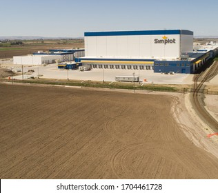 CALDWELL, IDAHO - APRIL 13, 2020: Simplot building in Idaho where they create food