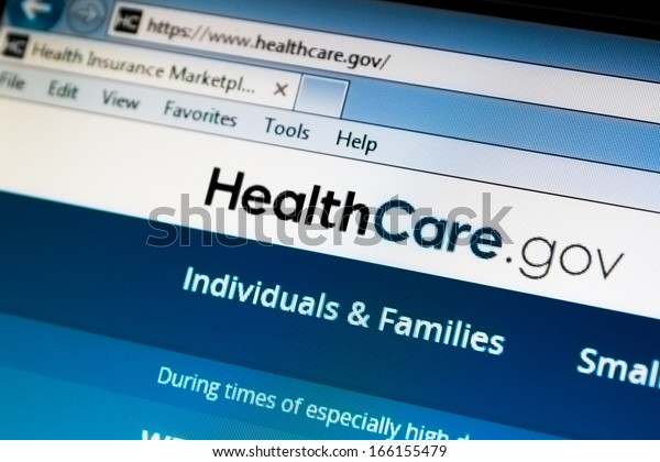 CALDWELL, IDAHO/USA - DECEMBER 6: View of the healthcare.gov website in Caldwell, Idaho on December 6, 2013. Healthcare.gov is part of the market place to buy health insurance.
