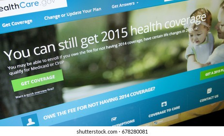 CALDWELL, IDAHO/USA - MARCH 25, 2015: With a qualifying life even you can still get coverage at healthcare.gov