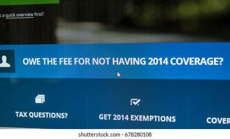 CALDWELL, IDAHO/USA - MARCH 25, 2015: Fee for not having coverage in 2014?