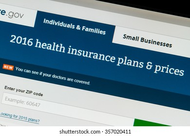 CALDWELL, IDAHO/USA - NOVEMBER 17,2015: 2016 Healthcare plans are available at healthcare.gov as seen while browsing healthcare.gov in Caldwell, Idaho