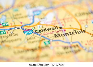 Caldwell New Jersey Map.Caldwell New Jersey Usa Stock Photo Edit Now 494977150 Shutterstock