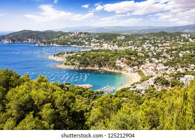 Calella de Palafrugell and Llafranc view (Costa Brava), Catalonia, Spain