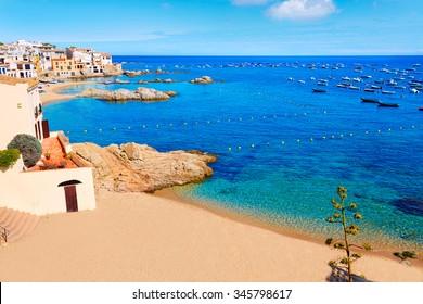Calella de Parafrugell in Costa Brava of Girona at Catalonia Spain