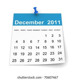 Calendar 2011 - December