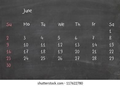 Calendar 2013 on real chalkboard