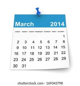 Calendar 2014 - March
