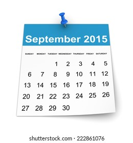 Calendar 2015 - September